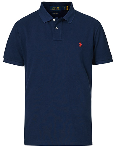 Polo Ralph Lauren Custom Slim Fit Polo Newport Navy i gruppen Klær / Pikéer / Kortermet piké hos Care of Carl (14315411r)