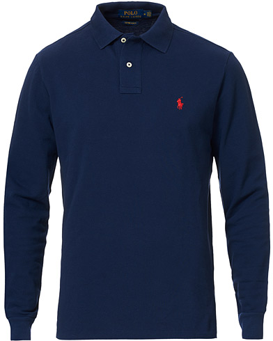 Polo Ralph Lauren Core Fit Long Sleeve Polo Newport Navy i gruppen Klær / Pikéer / Langermet piké hos Care of Carl (14316611r)