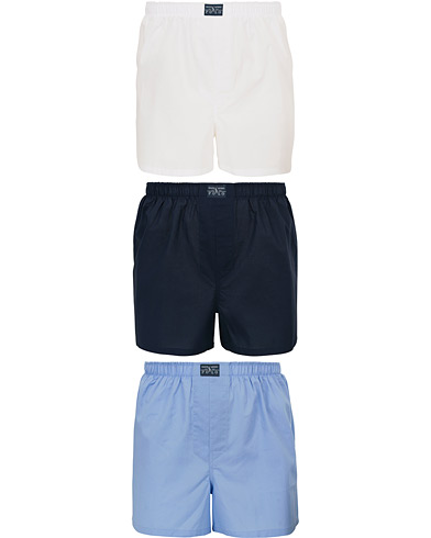 Polo Ralph Lauren 3-Pack Woven Boxer White/Blue/Navy i gruppen Klær / Undertøy / Underbukser hos Care of Carl (14318511r)