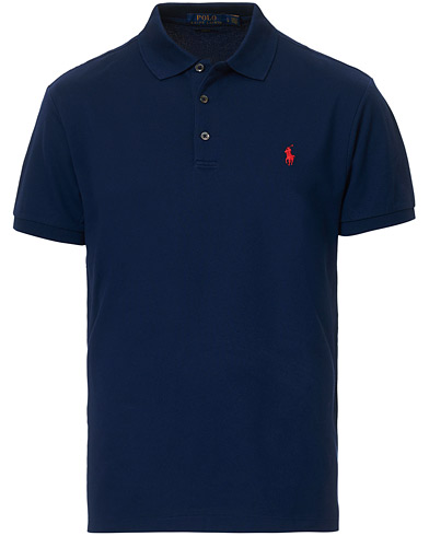 Polo Ralph Lauren Slim Fit Stretch Polo Navy i gruppen Klær / Pikéer / Kortermet piké hos Care of Carl (14328311r)