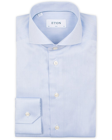 Eton Slim Fit Twill Cut Away Shirt Light Blue i gruppen Klær / Skjorter / Formelle / Businesskjorter hos Care of Carl (14331311r)
