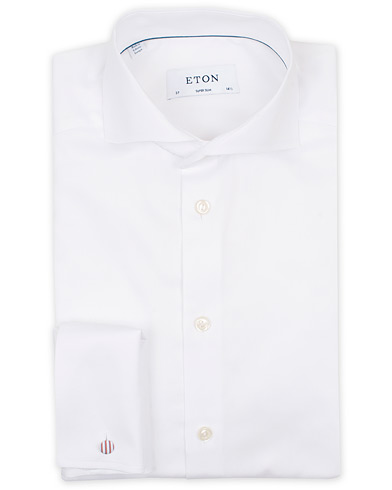 Eton Super Slim Fit Double Cuff Shirt White i gruppen Klær / Skjorter / Formelle / Businesskjorter hos Care of Carl (14331411r)