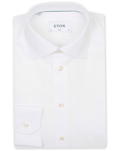 Eton Slim Fit Poplin Shirt White