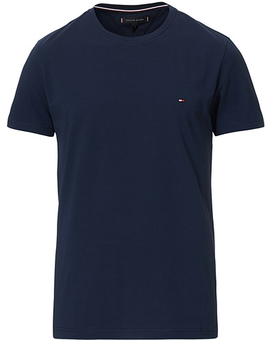 Tommy Hilfiger Slim Fit Stretch Crew Neck Tee Navy Blazer i gruppen Klær / T-Shirts / Kortermede t-shirts hos Care of Carl (14338111r)