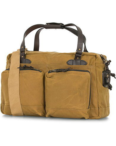 Filson 48-Hours Duffle Bag Dark Tan Canvas  i gruppen Assesoarer / Vesker / Weekendbager hos Care of Carl (14340010)