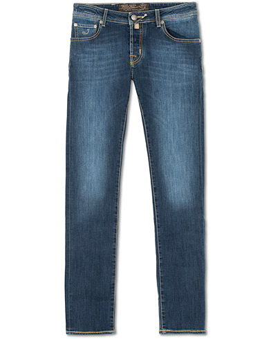 Jacob Cohën 622 Slim Jeans Mid  Blue i gruppen Klær / Jeans / Smale jeans hos Care of Carl (14342211r)