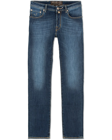 Jacob Cohën 688 Slim Jeans Mid  Blue i gruppen Klær / Jeans / Smale jeans hos Care of Carl (14342611r)