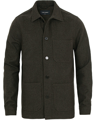 A Day's March Original Wool Overshirt Forrest Melange i gruppen Klær / Jakker / Tynne jakker hos Care of Carl (14354811r)