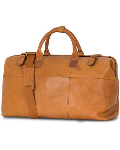 Oscar Jacobson Leather Weekendbag Tan