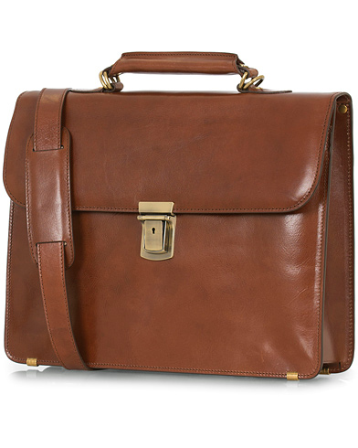 Baron Small Briefcase Cognac Leather