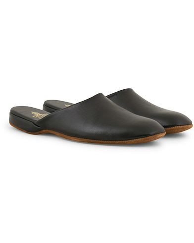 Crockett & Jones Mule Calf Home Slipper Black i gruppen Sko / Tøfler hos Care of Carl (14501111r)