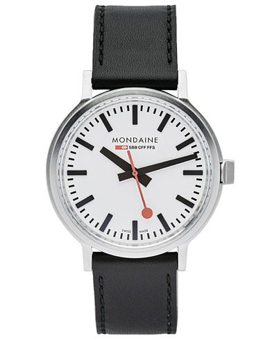 Mondaine Stop 2 Go White 41mm  i gruppen Assesoarer / Klokker hos Care of Carl (14523410)