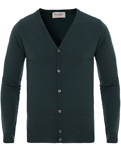 John Smedley Petworth Merino Cardigan Racing Green i gruppen Klær / Gensere / Cardigans hos Care of Carl (14525711r)