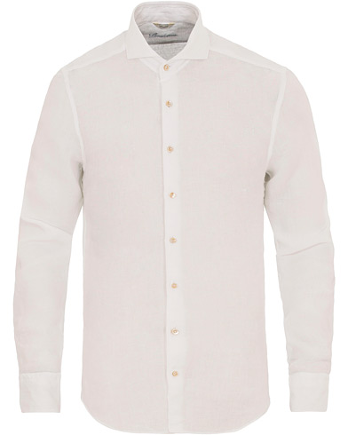 Stenströms Slimline Cut Away Linen Shirt White