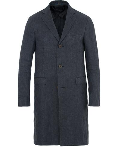 Polo Ralph Lauren Linen Top Coat Navy
