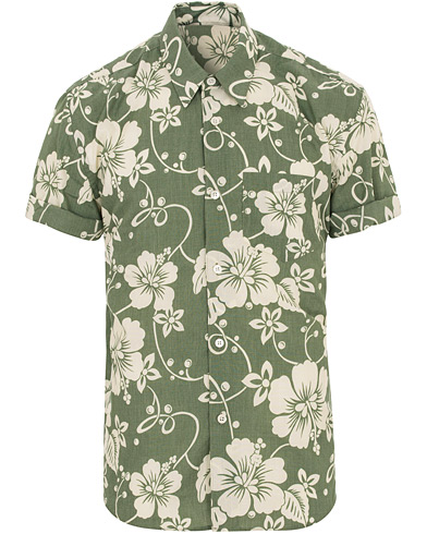 Our Legacy Initial Hibiscus Flower Short Sleeve Shirt Green