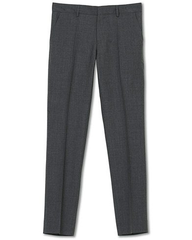 Filippa K Liam Cool Wool Slacks Grey Melange i gruppen Klær / Bukser / Dressbukser hos Care of Carl (14620211r)