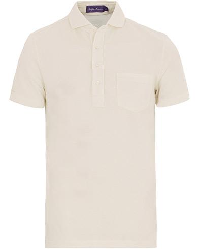 Ralph Lauren Purple Label Garment Washed Pocket Polo White
