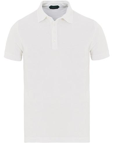 Zanone Ice Cotton Polo White