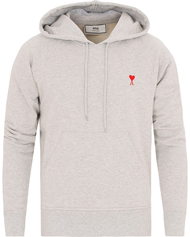 AMI Hoodie Sweat Heather Grey i gruppen Klær / Gensere / Hettegensere hos Care of Carl (14636311r)