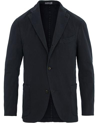 Boglioli K Jacket Cotton Stretch Blazer Navy