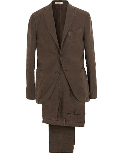 Boglioli K Jacket Linen Suit Brown