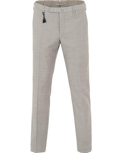 Incotex Slim Fit Wool Trousers Light Grey