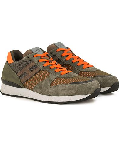 Hogan R261 Rebel Running Sneaker Olive/Orange