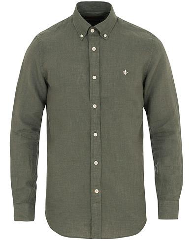 Morris Douglas Linen Shirt Olive