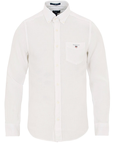 GANT Slim Fit Linen Shirt White i gruppen Klær / Skjorter / Casual / Linskjorter hos Care of Carl (14708011r)