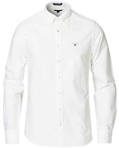 GANT Slim Fit Oxford Shirt White i gruppen Klær / Skjorter / Casual / Oxfordskjorter hos Care of Carl (14709411r)