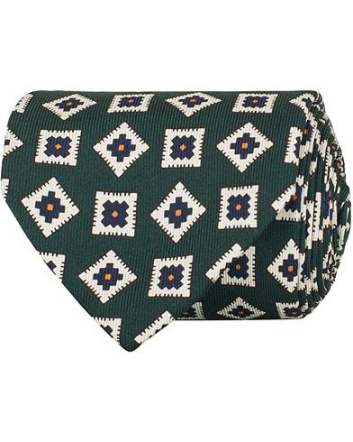 Drake's Silk Square 8 cm Tie Green