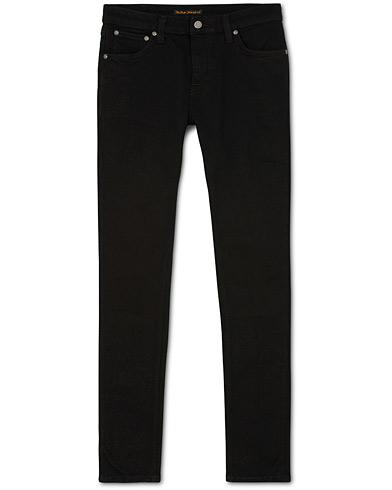 Nudie Jeans Skinny Lin Organic Slim Fit Jeans Black Black
