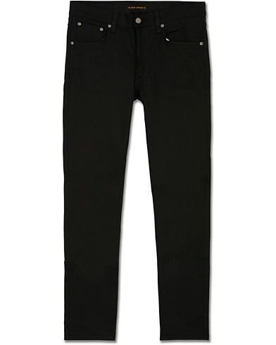 Nudie Jeans Lean Dean Organic Slim Fit Jeans Dry Ever Black i gruppen Klær / Jeans / Smale jeans hos Care of Carl (14734011r)