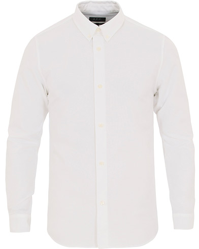 A.P.C. Button Down Oxford Shirt White