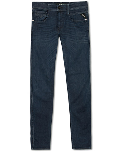 Replay M914 Anbass Hyperflex Jeans Dark Blue i gruppen Klær / Jeans / Smale jeans hos Care of Carl (14761711r)
