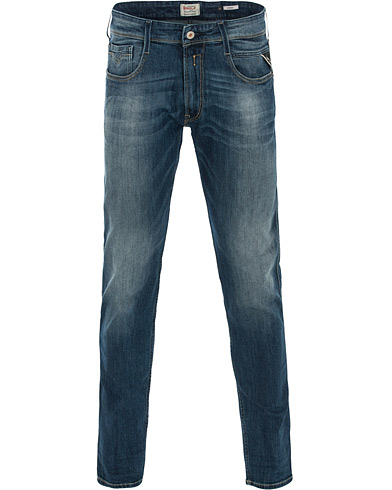Replay M914 Anbass Jeans Medium Blue i gruppen Klær / Jeans / Smale jeans hos Care of Carl (14762911r)