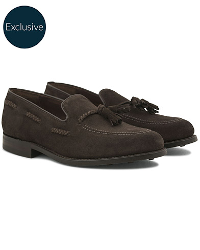 Loake 1880 MTO Temple Dainite Loafer Dark Brown Suede