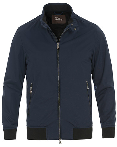 Oscar Jacobson Harrys Harrington Jacket Navy i gruppen Klær / Jakker / Tynne jakker hos Care of Carl (14775511r)