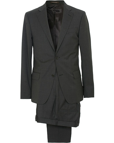 Oscar Jacobson Edmund Wool Stretch Suit Grey