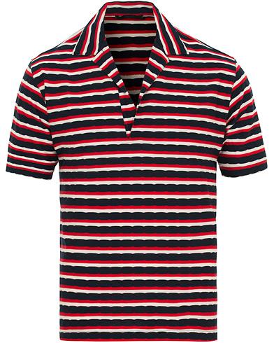 The Gigi Paro Stripe Polo Red/Navy