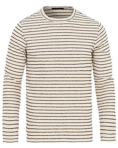 The Gigi Milos Stripe Lightweight Sweatshirt Navy/White