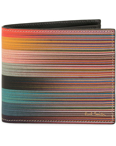 Paul Smith Billfold and Coin Artist Stripe Multi  i gruppen Assesoarer / Lommebøker / Vanlige lommebøker hos Care of Carl (14803010)