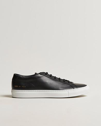 Common Projects Originals Achilles Sneaker White Sole Black Calf