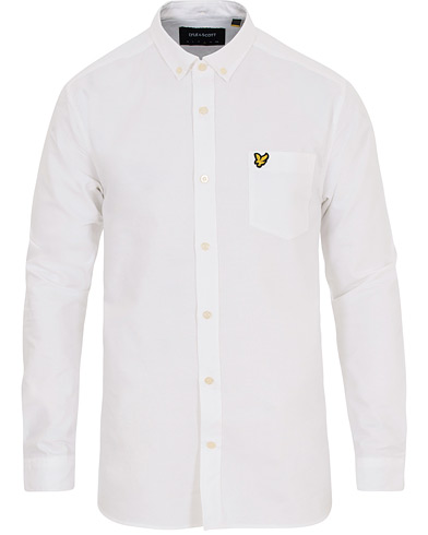 Lyle & Scott Oxford Shirt White i gruppen Klær / Skjorter / Casual / Oxfordskjorter hos Care of Carl (14841511r)