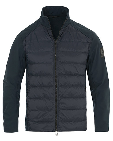 Belstaff Harpford Stretch Shell Quilted Jacket Navy