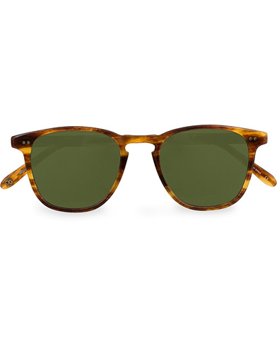 Garrett Leight Brooks 47 Sunglasses Pinewood/Pure Green  i gruppen Assesoarer / Solbriller / Buede solbriller hos Care of Carl (14859810)