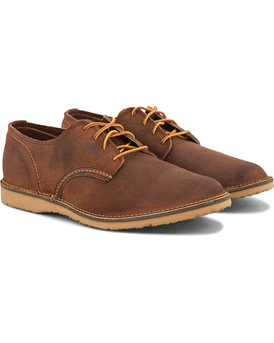 Red Wing Shoes Weekender Oxford Maple Muleskinner Leather