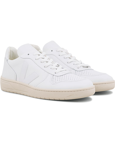 Veja V-10 Leather Sneaker Extra White i gruppen Sko / Sneakers hos Care of Carl (14863911r)