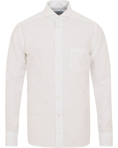 Eton Slim Fit Cotton/Silk Shirt White i gruppen Klær / Skjorter / Casual / Casual skjorter hos Care of Carl (14885411r)